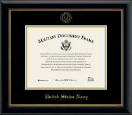 Gold Embossed Certificate Frame in Onyx Gold