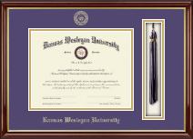 Kansas Wesleyan University Tassel Edition Diploma Frame in Southport Gold