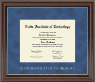 Silver Embossed Diploma Frame in Chateau