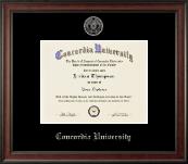Concordia University Portland Silver Embossed Diploma Frame in Studio