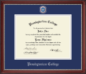 Masterpiece Medallion Diploma Frame in Kensington Silver