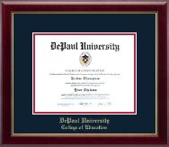 DePaul University Gold Embossed Diploma Frame in Gallery