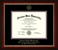 Arizona State University Gold Embossed Diploma Frame in Murano