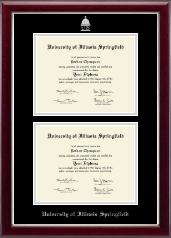 Double Document Diploma Frame in Gallery Silver