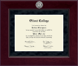 Millennium Silver Engraved Diploma Frame in Cordova