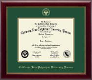 California State Polytechnic University, Pomona Gold Embossed Diploma Frame in Gallery