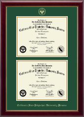 California State Polytechnic University, Pomona Double Diploma Frame in Gallery