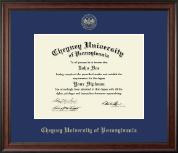 Cheyney University Gold Embossed Diploma Frame in Studio