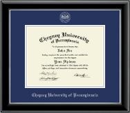 Cheyney University Silver Embossed Diploma Frame in Onyx Silver