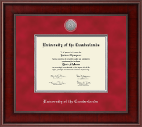 Presidential Silver Engraved Diploma Frame in Jefferson