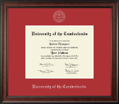 Silver Embossed Diploma Frame in Studio
