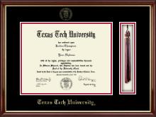 Tassel Diploma Frame in Southport Gold