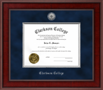 Clarkson College Presidential Silver Engraved Diploma Frame in Jefferson