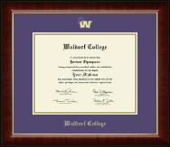 Gold Embossed Spirit Logo Diploma Frame in Murano