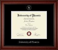 Silver Embossed Diploma Frame in Cambridge