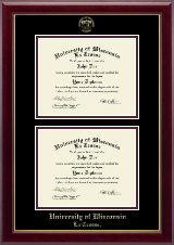 Double Diploma Frame in Gallery