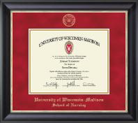 Gold Embossed Diploma Frame in Noir