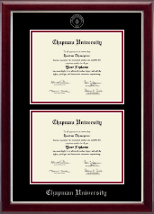 Double Diploma Frame in Gallery Silver