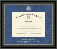Regal Edition Certificate Frame in Noir