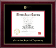 Gold Embossed MSOE Business Logo Diploma Frame in Gallery