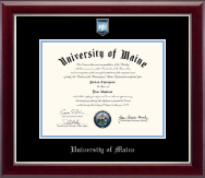 Pewter Masterpiece Medallion Diploma Frame in Gallery Silver
