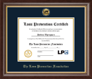 Gold Engraved Medallion Certificate Frame in Hampshire