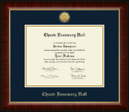 Choate Rosemary Hall Gold Engraved Medallion Diploma Frame in Murano