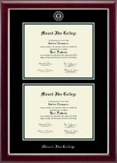 Double Diploma Frame in Kensington Silver