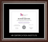 Silver Embossed Certificate Frame in Devonshire