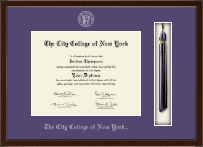 The City College of New York Tassel Edition Diploma Frame in Delta