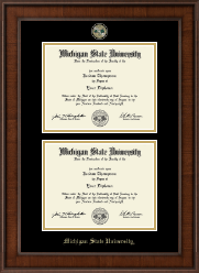 Double Diploma Masterpiece Medallion Frame in Madison