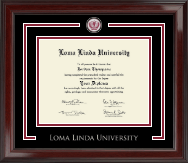 Loma Linda University Showcase Edition Diploma Frame in Encore