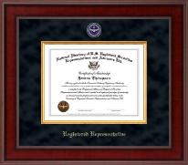 Registered Representative Presidential Masterpiece Certificate Frame in Jefferson