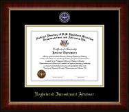 Registered Investment Advisor Masterpiece Medallion Certificate Frame in Murano