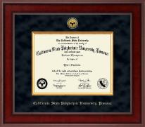 California State Polytechnic University, Pomona Presidential Gold Engraved Diploma Frame in Jefferson