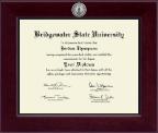 Bridgewater State University  Century Silver Engraved Diploma Frame in Cordova