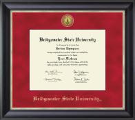 Bridgewater State University  Gold Engraved Medallion Diploma Frame in Noir