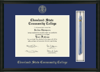 Cleveland State Community College Tassel Edition Diploma Frame in Omega