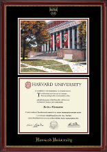Campus Scene Edition Diploma Frame in Kensington Gold