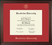 Benedictine University Gold Embossed Diploma Frame in Studio