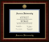 Gold Engraved Medallion Diploma Frame in Murano