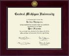 Central Michigan University Century Gold Engraved Diploma Frame in Cordova
