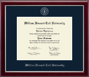 Silver Embossed Diploma Frame in Gallery Silver