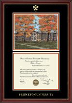 Campus Scene Diploma Frame in Kensington Gold