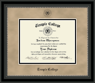 Black Embossed Diploma Frame in Noir
