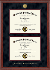 23K Double Diploma Frame in Signature