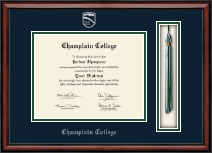 Champlain College Tassel Edition Diploma Frame in Southport