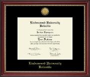 Lindenwood University-Belleville Gold Engraved Medallion Diploma Frame in Kensington Gold