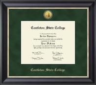 Gold Engraved Medallion Diploma Frame in Noir
