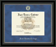Fort Lewis College Gold Embossed Diploma Frame in Noir